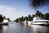 Boynton Beach Intracoastal view with boats