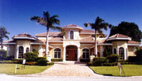 Royal Palm Yacht & CC Tuscan Turret Home