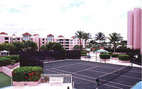 Mizner Tower Tennis Court View