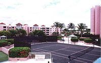 Mizner Tower Tennis Court View