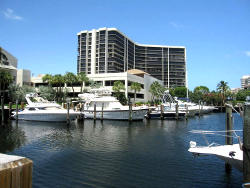 Highland Beach Waterfront Condos with Marina for 50+ foot boats