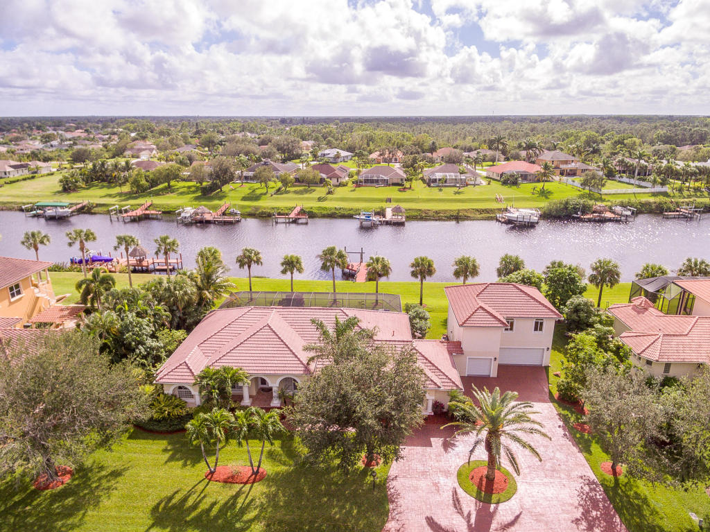 Aerral view of 2616 SW River Shore Drive, Port St Lucie, FL 34984 | South River Shore community in Southbend neighborhood