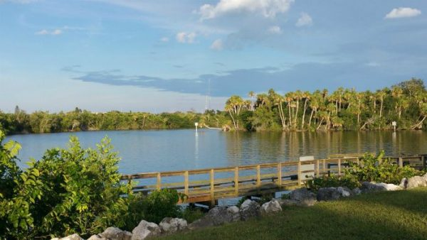 River Park and Marina PSL - Treasure Coast Waterway Cleanup location, view of St Lucie River