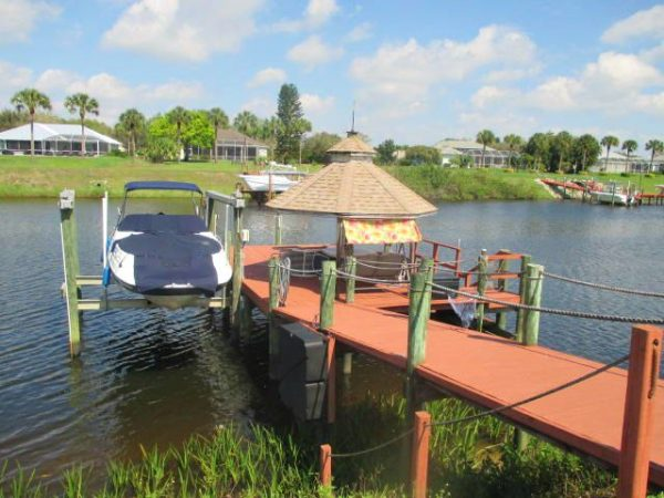 Ocean Access Gated Home on C-24 Canal just off the St Lucie River, dock with boat lift