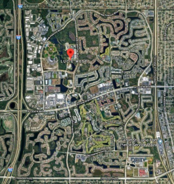 Aerial Map of St Lucie West planned development in Port St Lucie