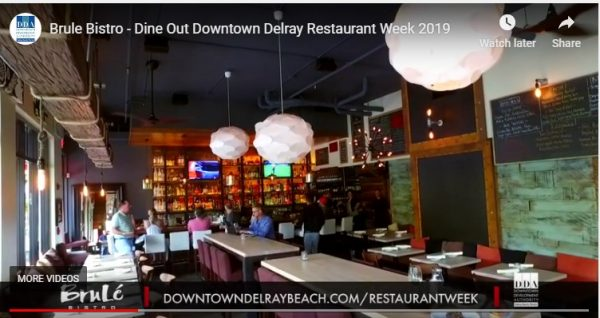 Downtown Delray Restaurant Week Aug 1-7, 2019