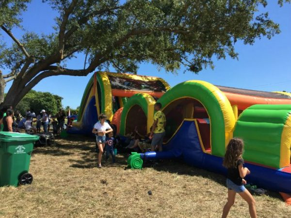 Crosstown Parkway Block Party Kids Zone bounce howses