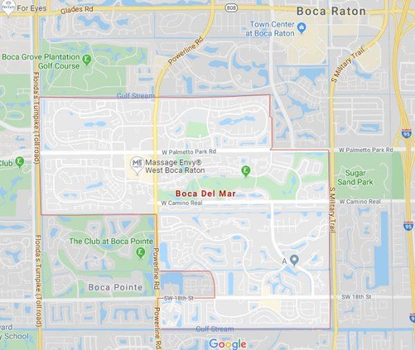 Boca del Mar map in Boca Raton, FL