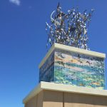 Crosstown Parkway Extension Monument Artwork by Guy Harvey