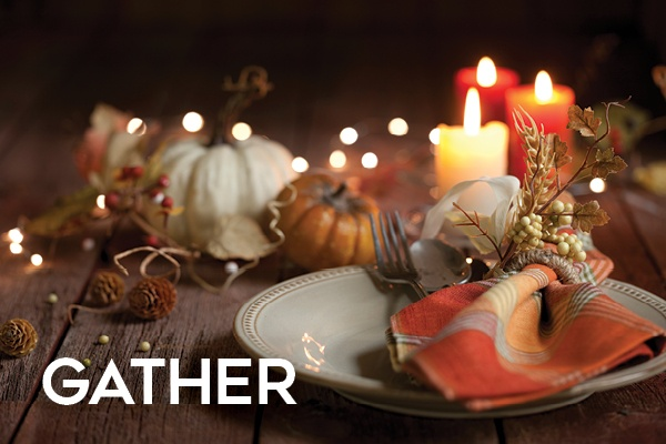 Happy Thanksgiving Gather Table setting