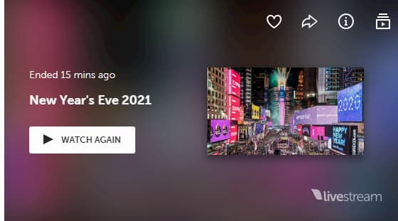 Times Square New Year's Eve Livestream Celebration